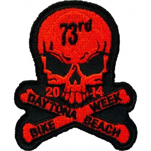 Red Bike Week Skull Event Patch