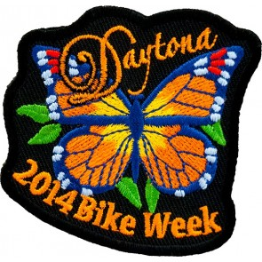 Orange Butterfly Bike Week Event Patch