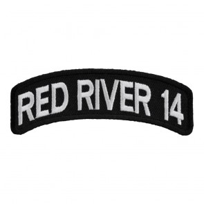 Embroidered 2014 Red River White Rocker Event Patch