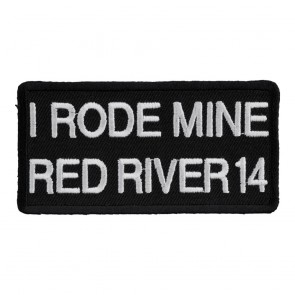 2014 Red River I Rode Mine White 32nd Anniversary Event Patch