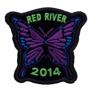 Embroidered 2014 Red River Purple Butterfly Event Patch