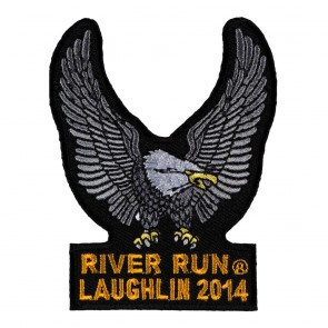 32nd Anniversary 2014 Laughlin River Run Silver Eagle Upwing Event Patch