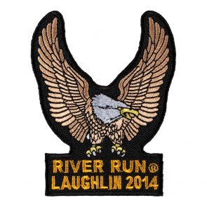 Sew On 2014 Laughlin River Run Brown Eagle Upwing Event Patch
