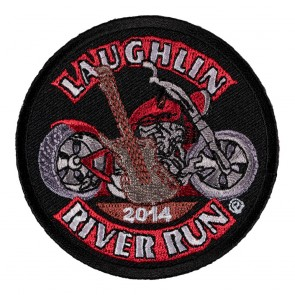 Embroidered 2014 Laughlin River Run Guitar & Motorcycle Event Patch
