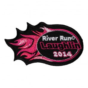 Sew On & Iron On 2014 Laughlin River Run Pink Flames Event Patch