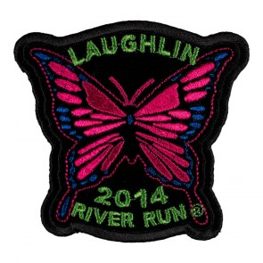 32nd Annual Laughlin River Run Pink Butterfly 2014 Event Patch