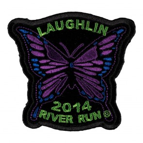 32nd Annual Laughlin River Run Purple Butterfly 2016 Event Patch