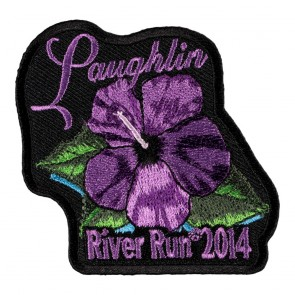 Embroidered 2014 Laughlin River Run Purple Flower Event Patch