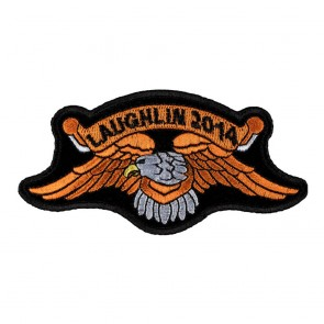 Iron On 2014 Laughlin Orange Eagle Event Patch