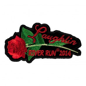 Embroidered 2014 Laughlin River Run Red Rose & Stem Event Patch