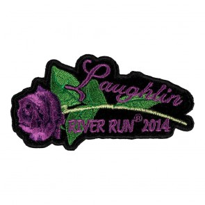 Sew On 2014 Laughlin River Run Purple Rose & Stem Event Patch
