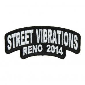 2014 Street Vibrations Reno White Rocker Event Patch