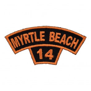 Sew On & Iron On 2014 Myrtle Beach Tab Orange Rocker Event Patch