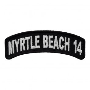 Embroidered 2014 Myrtle Beach White Rocker Event Patch