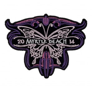 2014 Myrtle Beach Pink Purple Tribal Butterfly Sew On Annual Event Patch