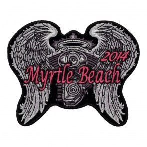 2014 Myrtle Beach Bike Week Event Patches, Biker Pins