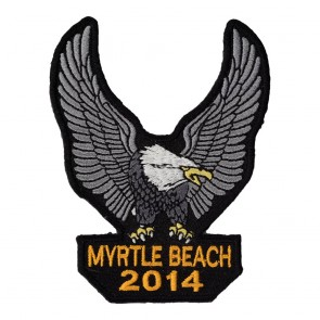 Embroidered 2014 Annual Myrtle Beach Silver Eagle Upwing Event Patch