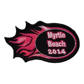 Iron On 2014 Myrtle Beach Pink Flames Event Patch