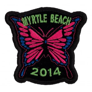 Iron On 2014 Myrtle Beach Pink Butterfly Event Patch