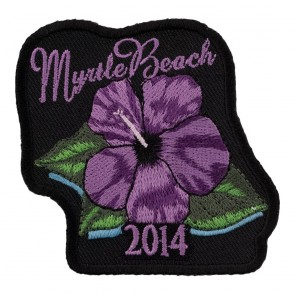 Sew On 2014 Myrtle Beach Purple Flower Event Patch