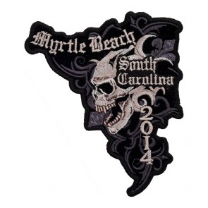 2014 Myrtle Beach Marble Skull Embroidered Event Patch