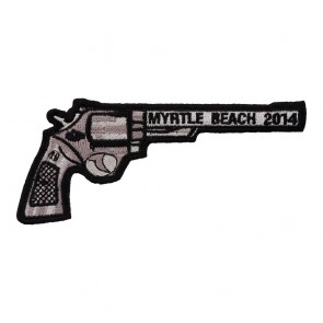2014 Myrtle Beach Right Revolver Hand Gun Sew On Event Patch