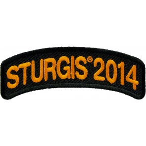 2014 Sturgis Motorcycle Rally Orange Rocker Event Patch