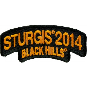 2014 Sturgis Black Hills Rally Orange Rocker Event Patch