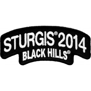 2014 Sturgis Black Hills Rally White Rocker Event Patch