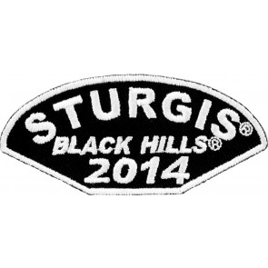 2014 Sturgis Black Hills Half Moon Shaped White Event Patch