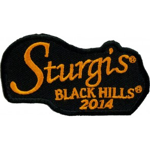 2014 Sturgis Black Hills Rally Orange Script Event Patch