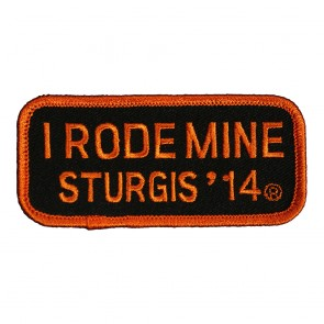 2014 Sturgis I Rode Mine Orange Rally Patch