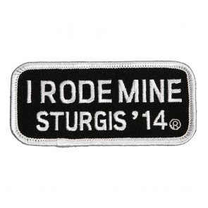 2014 Sturgis I Rode Mine White Rally Patch