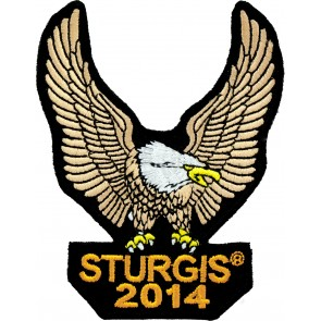 2014 Sturgis Rally Brown Upwing Eagle Event Patch