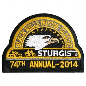 74th 2014 Sturgis Motorcycle Rally Official Past Year Event Patches