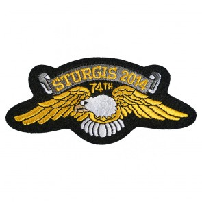 Official Sturgis 2014 74th Eagle Wings Patch