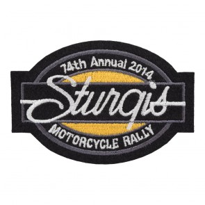2014 Sturgis Motorcycle Rally 75th Annual Bar & Oval Patch_F