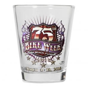 2016 Daytona Beach Bike Week 75th Official Shot Glass