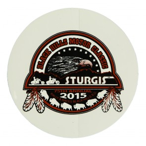 75th Anniversary Official Sturgis 2015 Black Hills Motor Classic Eagle Round Decal