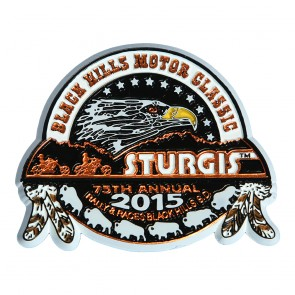 75th Anniversary Official Sturgis 2015 Black Hills Motor Classic Eagle Magnet