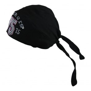 2015 Sturgis 75th Annual Motorcycle Rally Black Rhinestone Headwrap