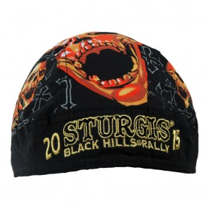 2015 Sturgis 75th Black Hills Rally Skull & Crosses Headwrap