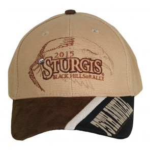 2015 Sturgis 75th Anniversary Black Hills Rally Soaring Eagle Tan Hat