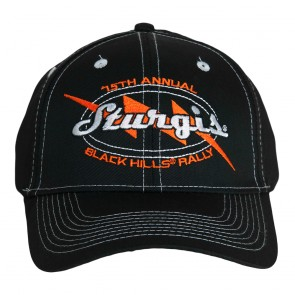 2015 Sturgis 75th Annual Black Hills Rally Lighting Bolt Event Cap