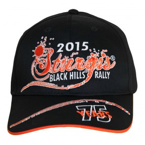 2015 Sturgis 75th Anniversary Black Hills Rally Orange Crush Event Hat