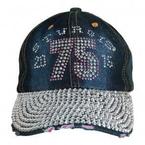 2015 Sturgis 75th Annual Black Hills Rally Blue Jean Rhinestone Ladies Hat