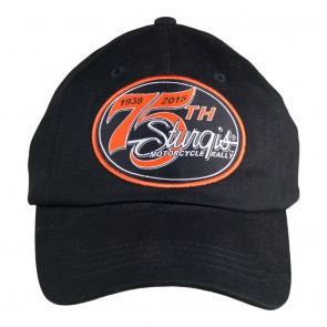 2015 Sturgis 75th Anniversary Black Hills Rally 1938-2015 Black Event Cap