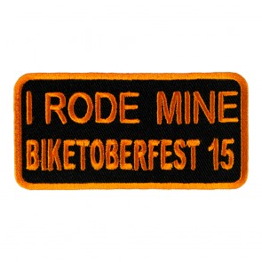 2015 Biketoberfest I Rode Mine Orange Event Patch