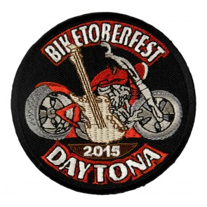 2015 Biketoberfest Daytona Guitar & Motorcycle Event Patch