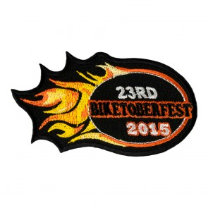 2015 Biketoberfest 23rd Orange Flames Event Patch